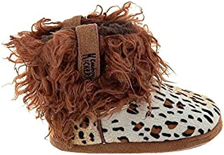 Cowboy Kickers Wooly Cheetah Slippers for Women M6-7