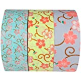 Wrapables Floral Bloom Japanese Washi Masking Tape, Mini, Set of 3