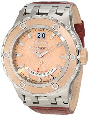 Invicta Men's 10099 Subaqua Reserve Rose Gold Tone Textured Dial Watch