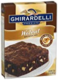 Ghirardelli Chocolate Brownie Mix, Walnut, 12 - 17-Ounce Boxes