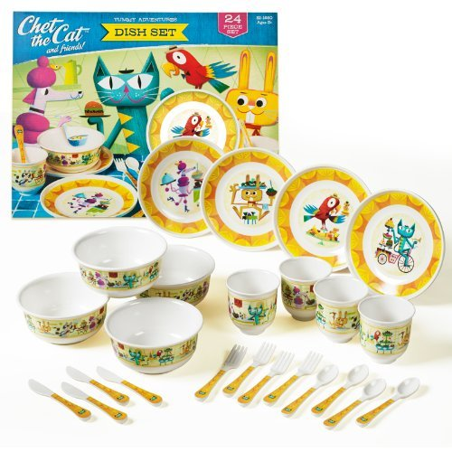 Educational Insights Chet The Cat Dish Set