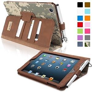 Snugg™ iPad Mini & iPad Mini 2 Case - Executive Smart Cover With Card Slots & Lifetime Guarantee (Digital Camo Leather) for Apple iPad Mini & iPad Mini 2