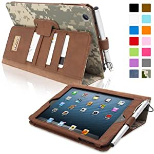 Snugg® iPad Mini & iPad Mini 2 Case - Executive Smart Cover With Card Slots & Lifetime Guarantee (Digital Camo Leather) for Apple iPad Mini & iPad Mini 2