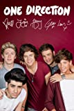 Posters: One Direction Poster - 1D Kiss You, Autographs (36 x 24 inches)