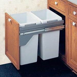 drawer slide out waste bin 80 liter