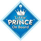 Little Prince On Board, Little Prince On Board Car Sign, Car Sign, Silver Text, Baby On Board Sign, Baby on Board, Baby Car Sign, Decal, Bumper Sticker, Baby Sign, Baby Car Sign