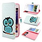 ivencase D79 Owl Design Wallet PU Leather Flip Case Cover for Huawei Ascend G510 U8951 + One ivencase Anti-dust Plug Stopper