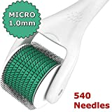 Nylea® Derma Roller - Skin Care - Acne Treatment - Titanium Professional Micro Needle Roller - 540 Needles - 1.0 Needle - Best for Skin Therapy Threatment - Ultimate DermaRoller for Face, Eyes and Body - Remove Stretch Marks, Wrinkles, Scars, Acne, Cellulite, Large Pores, Blackheads, Lines, Blemishes, Potholes - 1.0 Size - Top Dermatology System in Beauty, Health & Personal Care [Includes Travel Kit]