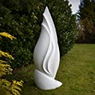 Large Garden Sculptures - White Ignite Contemporary Abstract Art Statue
