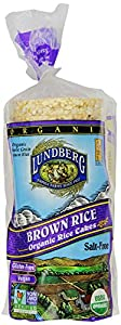 Lundberg Organic Brown Rice Cake, Unsalted, 8.5-Ounce Units  (Pack of 12)