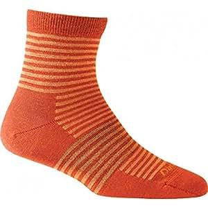 Darn Tough Mini Stripe Shorty Light Cushion Sock Orange 2 Pack Small