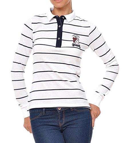 Polo Sweat Maglietta T-Shirt Felpa manica lunga per donna di M.Conte Kora bianco M