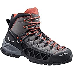 Salewa Women's Alp Flow Mid GTX Boots Charcoal / Indio & Hiking Sock Bundle