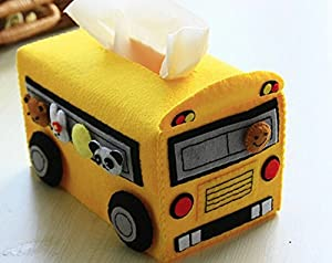Amazon.com: DIY Girl Craft Lovely Bus Shape Tissue Box Cover Felt Kit