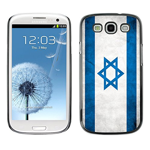 Omega Case Strong & Slim Polycarbonate Cover - Samsung Galaxy S3 Iii I9300 ( Isreal Grunge Flag )