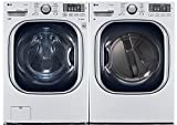 power pair special lg turbo series ultra capacity laundry system with steampure white colorwm4270hwadlex4270w