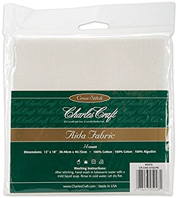 DMC CR5440-6750 Classic Reserve Aida, 12 by 18-Inch, White, 14 Count