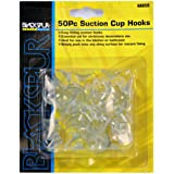 Pack Of 50 Hardware Suction Hooks For Mounting On Smooth Surfaces