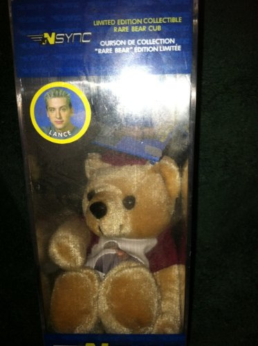 NSYNC Lance Bass Limited Edition Rare Bear Cub Limited Edition Of 25,000 In Protective Case N'SYNC Bear Cubs - 1
