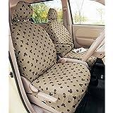 【Disney】ディズニー 綿100%の車種専用カーシートカバーセット ベージュ ミッキーマウス ベージュ パッソ・ブーン