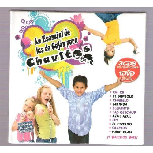 """Lo Esencial De Las De Cajon Para Chavitos """"3 CD's 56 Cansiones, Un DVD ..."""
