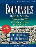 Boundaries Leader's Guide (0310224527) by Cloud, Henry