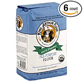King Arthur Artisan Organic All Purpose Flour, 5 Pound -- 6 per case.