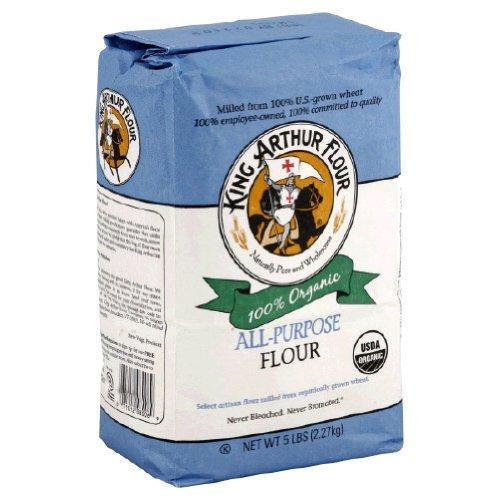 King Arthur Artisan Organic All Purpose Flour, 5 Pound -- 6 per case.