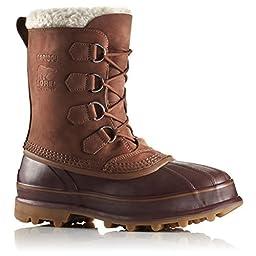 Sorel Men\'s Caribou Waterproof Boots-Cinnamon/Madder Brown-7.5