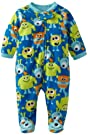 Little Me Baby-Boys Newborn Aliens Blanket Sleeper, Turquoise Blue, 6 Months