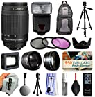 Must Have Accessories Package for Nikon DF D7200 D7100 D7000 D5500 D5300 D5200 D5100 D5000 D3300 D3200 D3100 D3000 D300S D90 D60 DSLR SLR Digital Camera includes AF Zoom-NIKKOR 70-300mm f/4-5.6G Manual Lens with Remote & Honeycomb + Flash + Tripod + 3 Piece Filter Kit + 2.2x Telephoto Adapter + 0.43x Wide Angle Fisheye Adapter + Hood + Dust Cleaning Kit + $50 Gift Card for Prints