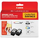Canon PG-210 XL CL-211 XL and 4-Inches x 6-Inches - 50 Sheets