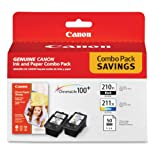 CE - Canon PG-210 XL CL-211 XL and 4-Inches x 6-Inches - 50 Sheets