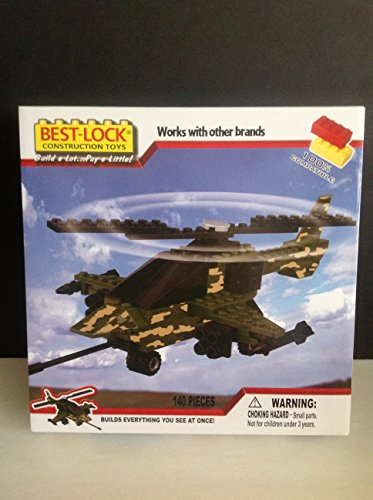 Best Lock Military Construction Set 140pc Helicopter #91421