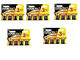 Duracell Plus Power MN1500 Alkaline AA Batteries - 40-Pack - 5 Packs of 5+3 Batteries