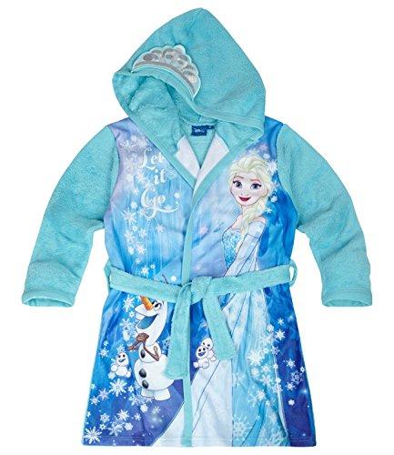 Disney Frozen - Il regno di ghiaccio Ragazze Accappatoio con cappuccio Coral fleece - blu - 128