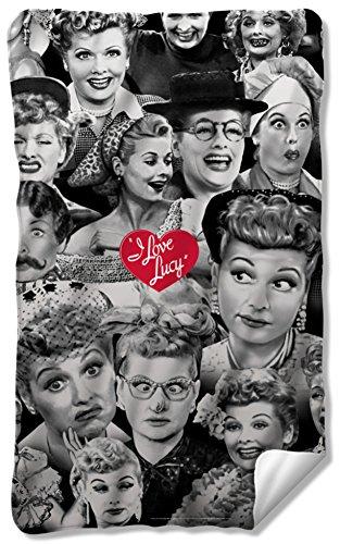 I Love Lucy - Faces Fleece Blanket 35 x 57in