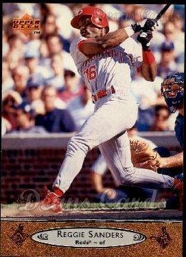1996 Upper Deck # 45 Reggie Sanders Cincinnati Reds (Baseball Card) Dean's Cards 8 - NM/MT