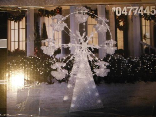 Gemmy 6.59-ft Snowflakes Ferris Wheel Outdoor Christmas Decoration with LED White Multi-function Lights