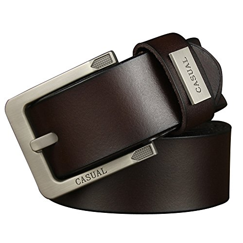 E-Clover Casual Mens Reversible Leather Belts (Wine)