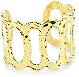 Devon Leigh 18k Gold Dipped Open Cuff