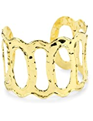 18k Gold Dipped Open Cuff