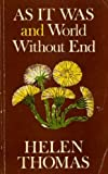 As It Was and World Without End (0571101356) by THOMAS, Helen
