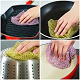 Best Non-Scratch Heavy Duty Scouring Pad and Scrubber (3 Packs of 2) ☆ Outlasts 7+ Sponges, Dish Cloths, Scrubbers, Scrub Pads and Scourers ☆ Scrubs Tough Stains from Any Surface Without Scratching ☆ Replace Old Smelly Heavy Duty Sponges Today