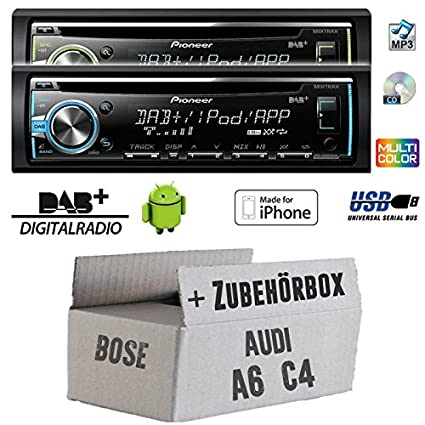 Audi a6 c4 bose pioneer dEH-x6800DAB-dAB autoradio cD/mP3/uSB avec dAB antenne de montage