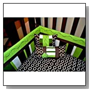 10pc Frog Nursery Crib Bedding Set Brown & Green