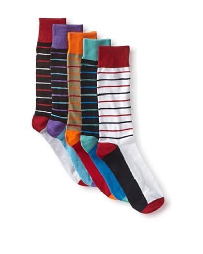 English Laundry Men's Colorful Stripes - 5 Pack Socks