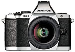 Olympus OM-D E-M5 16MP Live MOS Interchangeable Lens Camera with 3.0-Inch Tilting OLED Touchscreen (Silver)