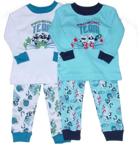 Buy Little Boys' Football Pajamas Loungewear Set with Football Print