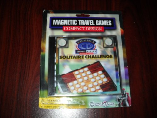 Solitaire Challenge by Excalibur Magnetic Travel Compact Design